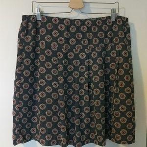 LOFT mod-design lined playful skirt